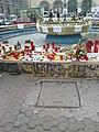 Bucuresti, Romania, Fantana din fata Facultatii de Arhitectura (imagini de revolta pentru cele intamplate la Clubul Colectiv (Clubul mortii)(detaliu 2).jpg