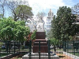 Manuel Alberti - Statue of Manuel Alberti at Barrancas de Belgrano.