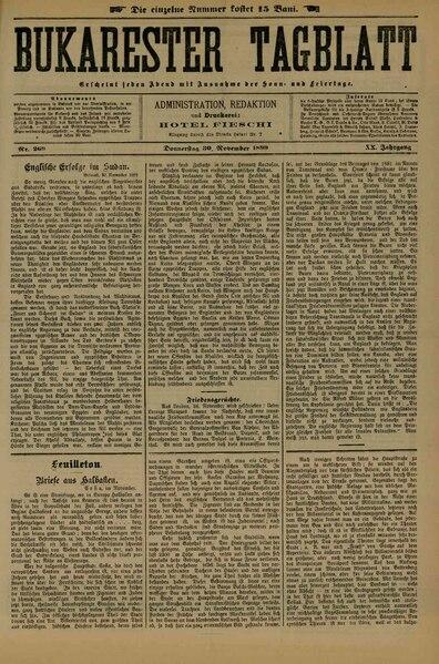 File:Bukarester Tagblatt 1899-11-30, nr. 269.pdf