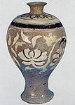 Buncheong Prunus Vase with Inlaid Peony Design.jpg