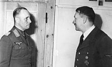 Photograph of Erwin Rommel facing Adolf Hitler