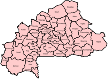Burkina Faso-Suddivisione amministrativa-Burkina Faso provinces named