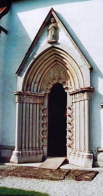 Burs Church - Carved portal