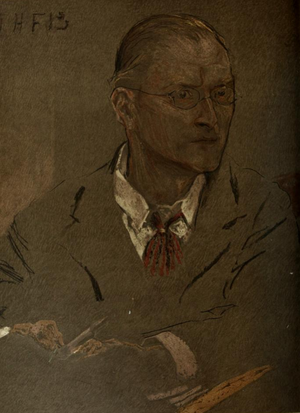 Charles Voysey (architect) - Portrait by John Henry Frederick Bacon (1901).