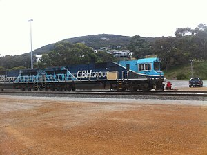 CBH Group - CBH locomotive at Port of Albany 2016