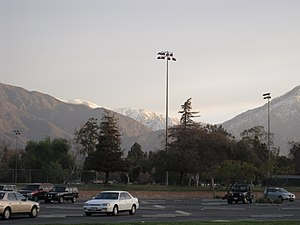 Claremont High School (California) - Image: CHS Parking Lot