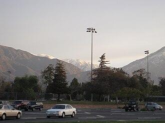 Claremont High School (California) - Image: CHS Parking Lot