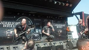 Candlelight Red - From left to right: Jeremy Edge, Brian Dugan, Ryan Hoke and Jamie Morral performing at the Rockstar Energy Uproar Festival in Burgettstown, Pennsylvania in August, 2012