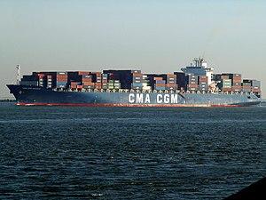 CMA CGM Balzac pic1, leaving Port of Rotterdam, Holland 23-Jan-2006.jpg