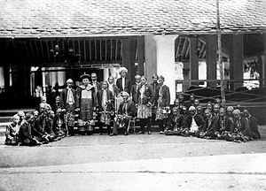 Bangil - Bangil indigenous civil servants with Arab and Chinese leaders during the Dutch East Indies Rule