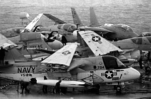 CVW-6 aircraft on USS Independence (CV-62) off Lebanon 1983.JPEG