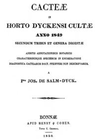 Cacteae in horto Dyckensi cultae anno 1849.png