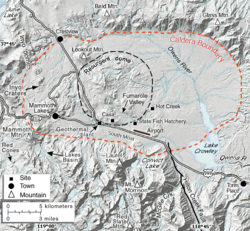 Long Valley Caldera Wikipedia - Calderas in the us map