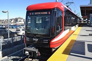 light rail transit system in Calgary, Alberta
