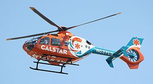 CALSTAR - A CALSTAR Eurocopter EC135 on final approach.