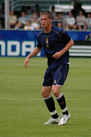 Calum Elliot - Elliot playing for the Scotland national under-20 football team in the 2007 FIFA U-20 World Cup.