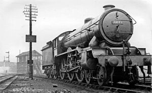 LNER Class B17 - B17/6 No. 61623 'Lambton Castle' at Cambridge 28 February 1951.
