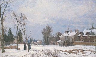 The Post-House, the Route de Versailles, Louveciennes, Effect of Snow