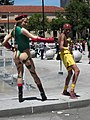 Cammy & Dhalsim cosplayers at FanimeCon 2010-05-30 3.JPG