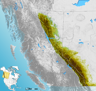 Ranges of the Canadian Rockies - Extent of the Canadian Rockies