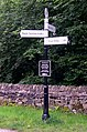Canal Signpost, Peak Forest Canal, Whaley Bridge, Derbyshire - geograph.org.uk - 571272.jpg