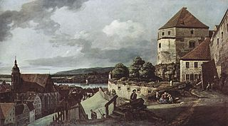 View of Pirna, from Sonnestein Castle