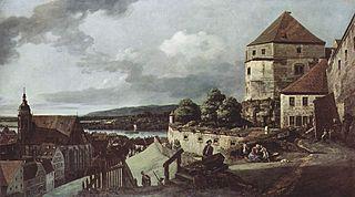 View of Pirna, from Sonnenstein Castle