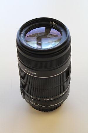 Canon EF-S 55–250mm lens - Image: Canon EF S 55 250 mm F4 5.6 IS II lens
