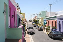 The distinctive Cape Malay Bo-Kaap is one of the most visited areas in Cape Town.