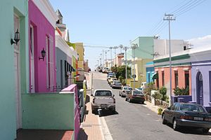 The Bo-Kaap in Cape Town, South Africa in Janu...