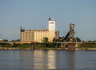 East St. Louis, Illinois - Cargill grain elevator in East St. Louis