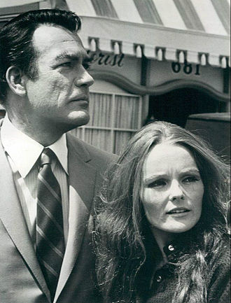 Katharine Houghton - Houghton with Carl Betz as a guest star on Judd, for the Defense, 1968