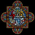 Carl Huneke's Stained Glass Window - Santa Maria at Santa Maria Church in Orinda, CA.jpg