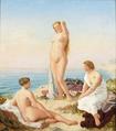 Carl Ludwig Jessen - Three women bathing.png