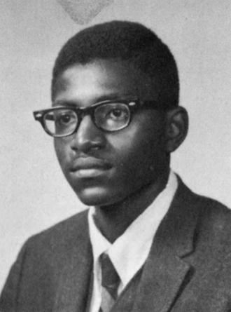 Carl Lumbly - Lumbly in his senior year of high school
