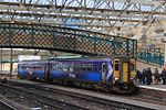 Carlisle - ScotRail 156501 Newcastle train.JPG