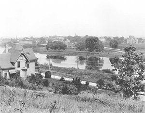 Carpentersville, Illinois - View of Carpentersville from the cemetery, 1898