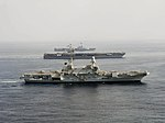 Carriers Cavour (550) - Harry S. Truman (CVN-75) and Charles de Gaulle (R91) underway in 2013.JPG