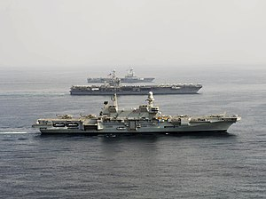 Italian Navy - The carrier ''Cavour'' in the Gulf of Oman, 2013