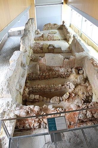 Cartagena, Spain - Carthaginian walls of Carthago Nova (Spain) 3rd century BC