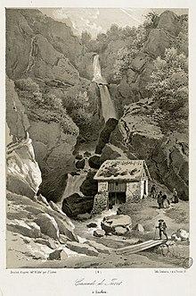 Juzet De Luchon Cascade By Joseph Latour