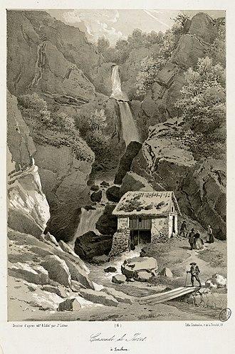 Juzet-de-Luchon - Juzet-de-Luchon Cascade, by Joseph Latour.