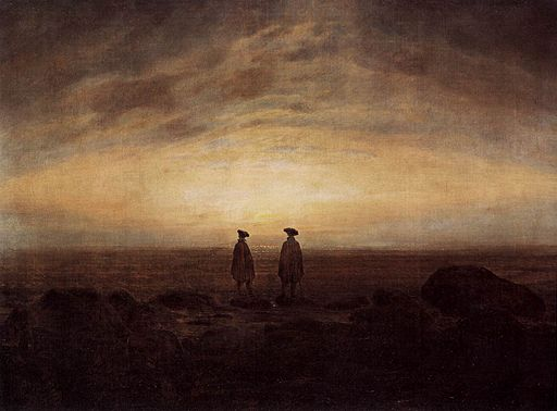 Caspar David Friedrich - Two Men by the Sea - WGA8249