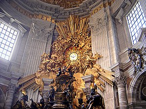 "English: Bernini's ""Gloria"" surmount..."