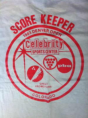 Celebrity Sports Center - A bowling T-shirt from 1983.