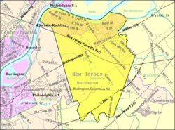 Census Bureau map of Florence Township, New Jersey