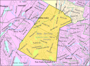 Franklin Lakes, New Jersey - Image: Census Bureau map of Franklin Lakes, New Jersey