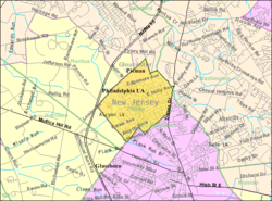 Census Bureau map of Pitman, New Jersey