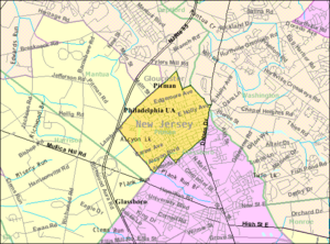 Pitman, New Jersey - Image: Census Bureau map of Pitman, New Jersey