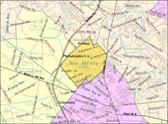 Pitman, New Jersey - Image: Census Bureau map of Pitman, New Jersey